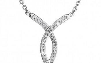 EVOLUTION GROUP CZ Stříbrný náhrdelník s krystaly…
