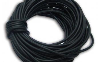Kaučuková šňůrka kulatá černá, tl. 2 mm - RC1002