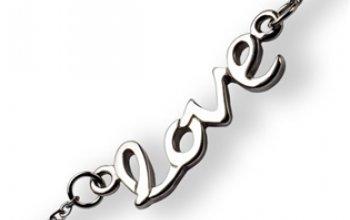 Ocelový řetízek s přívěškem - LOVE - OPE1157-45