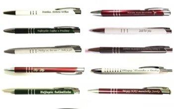 Kuličkové pero s rytinou textu - EM1001-01