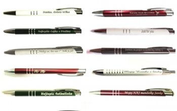 Kuličkové pero s rytinou textu - EM1001-08