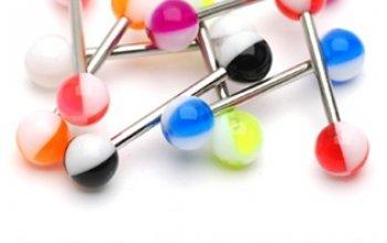 Piercing do jazyka akrylát - PJ01116-WG