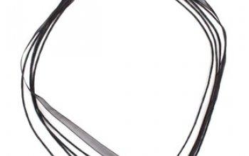 Černá šňůrka na krk z organzy, délka 45 cm -…