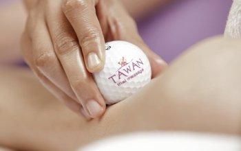 Masáž golfovými míčky