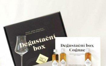 Degustační box Cognac: 4 vzorky + sklenička