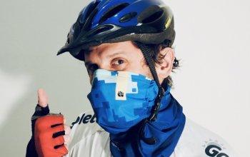 Antivirový nákrčník na podporu CF Hero: modrý