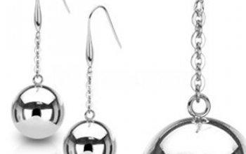 Ocelové náušnice - koule - OPN1396