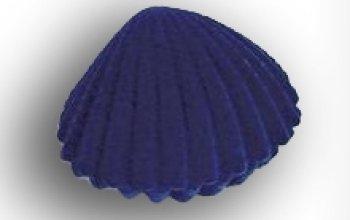 Dárková krabička semiš - lastura modrá - KR0018-BL