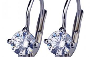Stříbrné náušnice se zirkony 5 mm - ZB29210