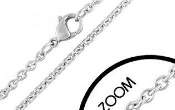 Ocelový řetízek délka 50 cm, šíře 2 mm - OPE1098…