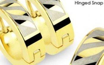 Ocelové náušnice kroužky - OPN1401