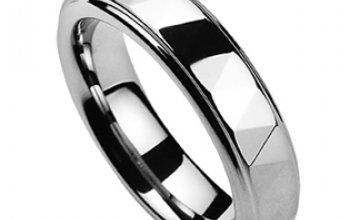 NUBIS® NWF1038 Pánský snubní prsten wolfram -…