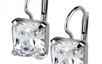 Stříbrné náušnice se čtvercovými zirkony - ZB29196
