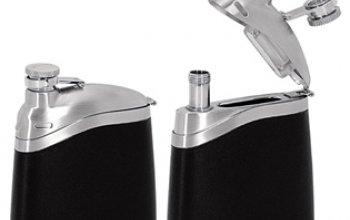 Ocelová kapesní lahev - placatka 130ml - 98389
