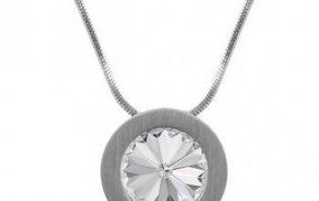 Ocelový přívěšek s krystalem Swarovski®, Crystal …
