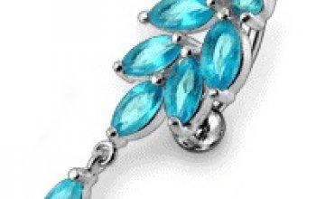 Stříbrný piercing do pupíku - BP01269-C