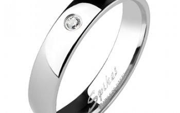 Spikes USA TT1035 Dámský snubní prsten titan,…