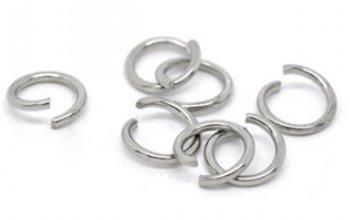 komponenty - ocelový kroužek 1,6x10  mm - OK1057