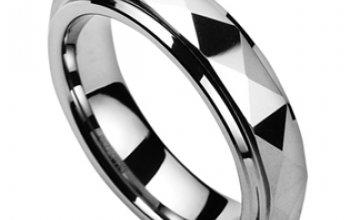 NUBIS® NWF1037 Pánský snubní prsten wolfram -…