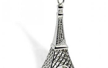 Ocelový přívěšek - Eifelova věž - OPP1328