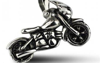 Ocelový přívěšek - motorka - OPP1001