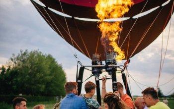 Rodinný let balónem