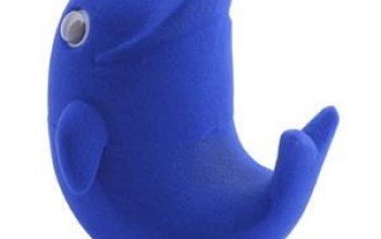 Dárková krabička semiš - delfín tmavě modrý -…