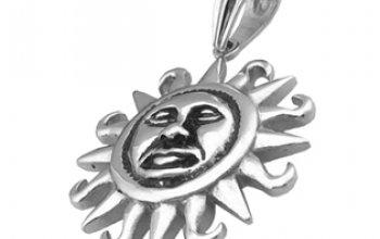 Ocelový přívěšek - slunce - OPP1349