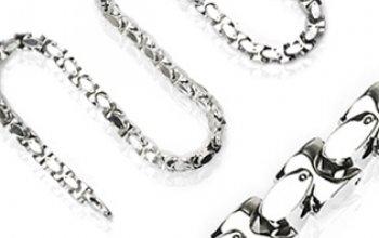Pánský ocelový řetěz, tl. 10 mm, délka 60 cm -…