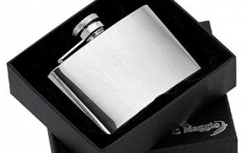 Ocelová kapesní lahev - placatka 115ml - 98380