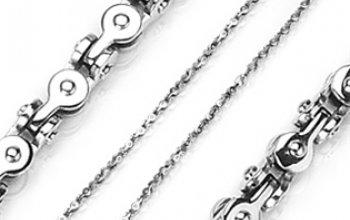 Pánský ocelový řetěz, tl. 7 mm, délka 60 cm -…