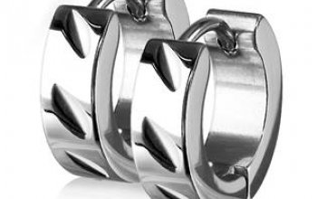 Ocelové náušnice - kroužky - OPN1410