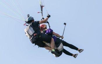Tandemový paragliding - termický let
