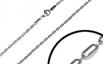 Ocelový řetízek oválkový - OPE1031-015-45