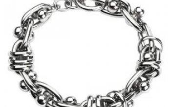 Pánský ocelový náramek, tl. 13 mm, délka 21,5 cm …