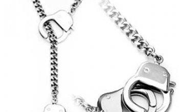 Ocelový náhrdelník pouta - OPE1091