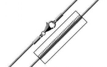 Ocelový řetízek - had délka 55 cm, tl. 3 mm -…