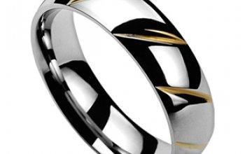 NUBIS® NSS3001 Pánský snubní prsten ocel -…