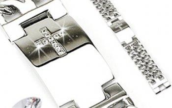 Pánský ocelový náramek se zirkony - OPA2005