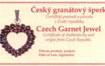 Stříbrný set český granát náušnice + přívěšek -…