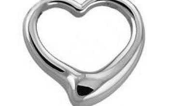 Ocelový přívěšek - srdce - OPP1041