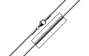 Ocelový řetízek - had délka 45 cm, tl. 1,2 mm -…