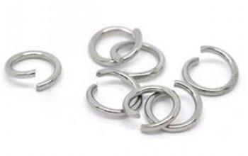 komponenty - ocelový kroužek 0,5x6 mm - OK1054