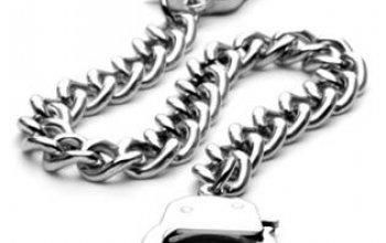 Ocelový náramek - pouta - OPA1113