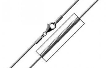 Ocelový řetízek - had délka 45 cm, tl. 1,5 mm -…