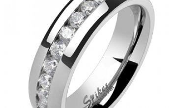 Spikes USA OPR1334 Dámský snubní prsten šíře 6 mm…